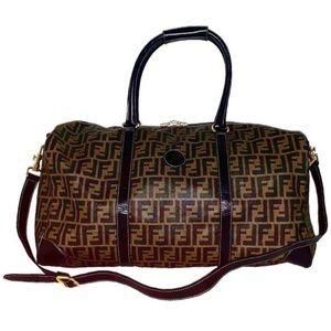 Authentic Fendi FF Coated Canvas 2 Way Duffel Bag